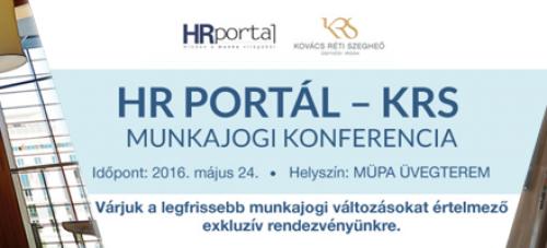 HRPortal – KRS Munkajogi Konferencia